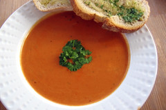 vegetable(0.0), calabaza(0.0), produce(0.0), tarhana(1.0), tomato soup(1.0), bisque(1.0), food(1.0), dish(1.0), soup(1.0), cuisine(1.0),