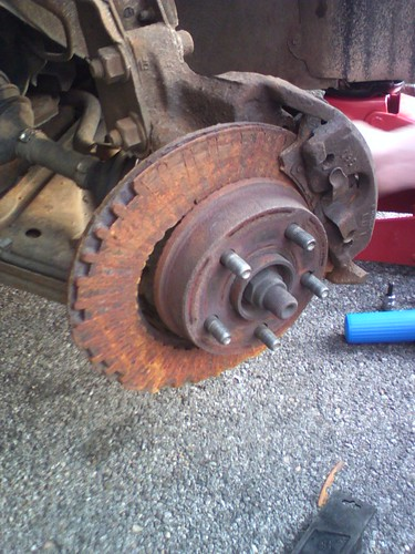 Destroyed brake rotors