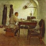Leo Tolstoy in His Study