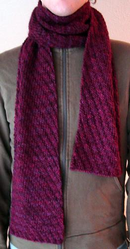 Tipsy diagonal rib scarf