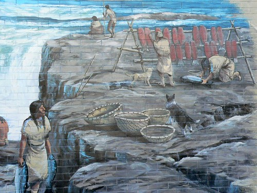 Oregon Trail Mural Celilo Wyam Great FAlls on the Columbia by Robert Thomas in The Dalles Oregon (4)