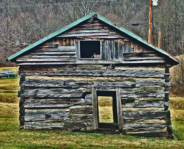 Pioneer log cabin build in the s along carrs run