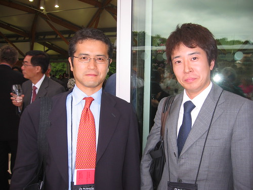 Takeshi Tokutome and Mitsuhiro Yoshimoto (Japan) at the Summit Dinner, Alnwick Gardens