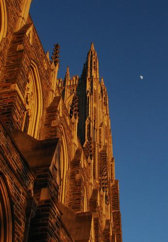 winter sunset sky usa moon nc university durham northcarolina duke chapel dukeuniversity dukechapel