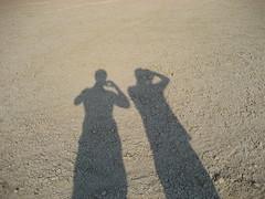 The long shadows on the Etosha Pan