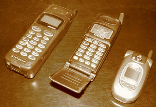 Old-timey cell phones