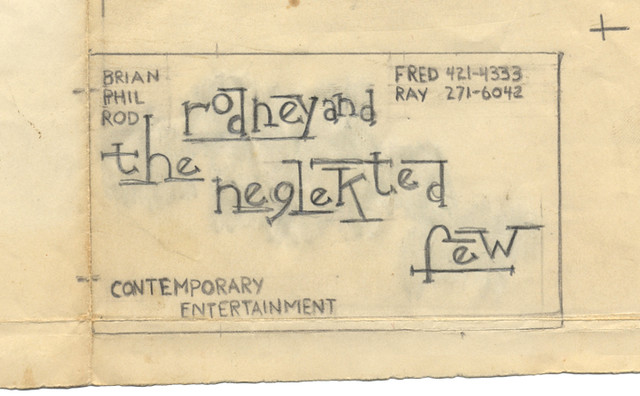 Neglekted Few business card, 1967