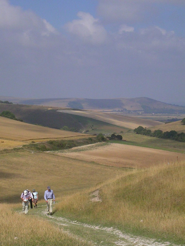 Book 2, Walk 24, Lewes via Rodmell Circular - Saltdean Extension 1 South Downs, 16 Aug '06