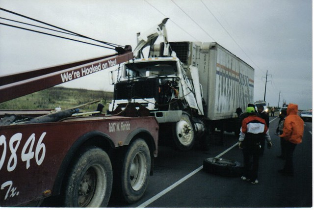 Sysco truck Accident - MIdland Texas | JoeTom | Flickr