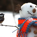 Chickadee and the Snowman by nature55
