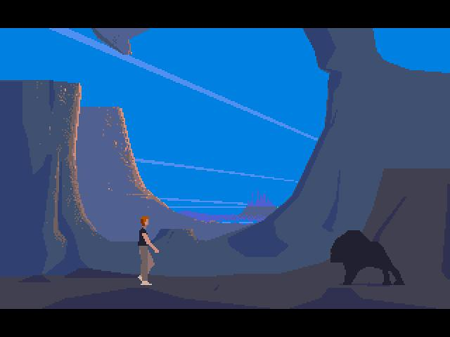 """Another World"" game on the Commodore Amiga in 1991 ..."