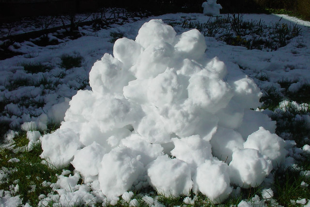Pile of snowballs | Flickr - Photo Sharing!
