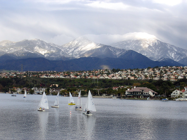 snow capped mountains from mission viejo ca flickr