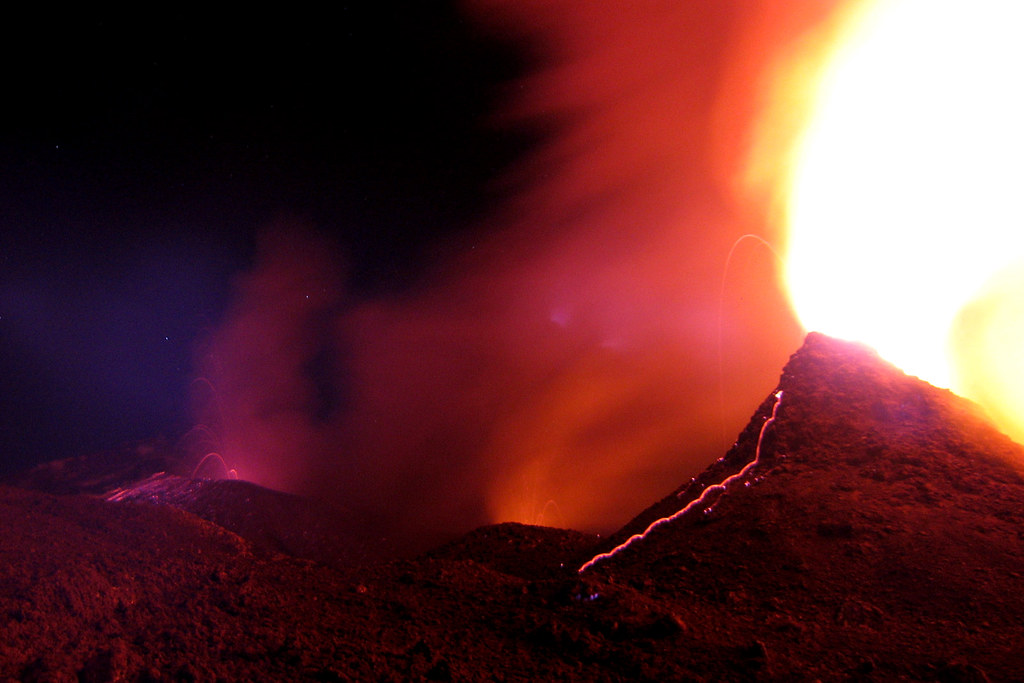 South East Crater and Hornitos at Etna