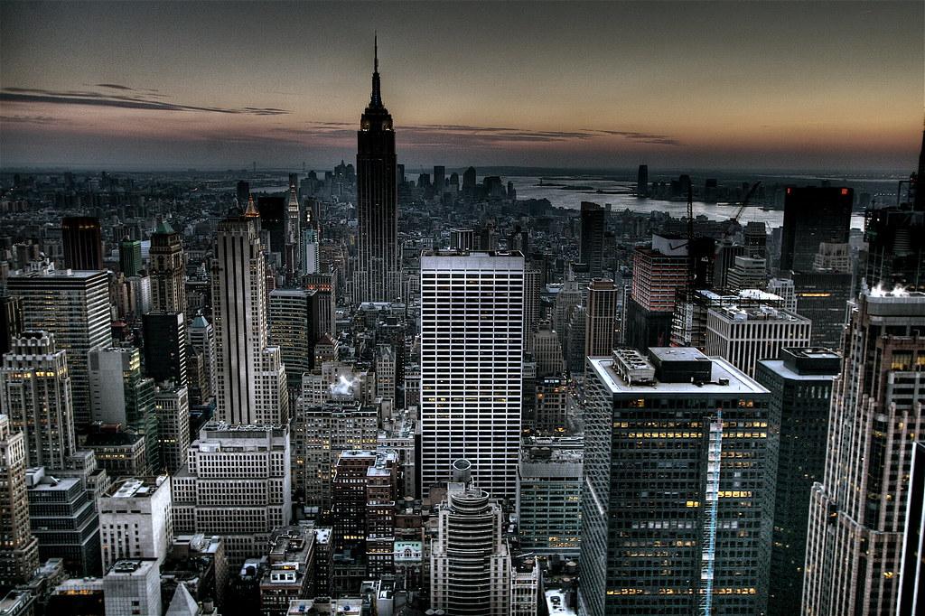 gotham city background new york city skyline wallpaper hdr