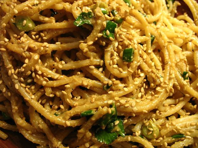 peanut-sesame noodles | Flickr - Photo Sharing!