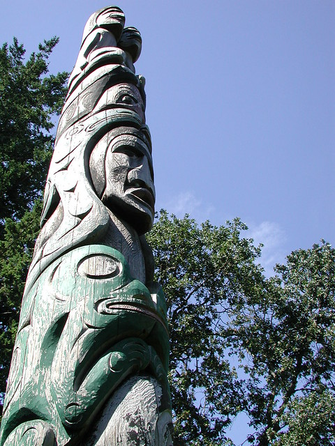 UVic totem on the quad