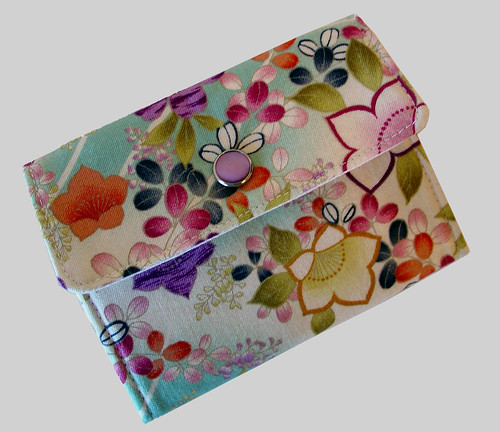 3 Pocket Flip Wallet - Asian Springtime Floral