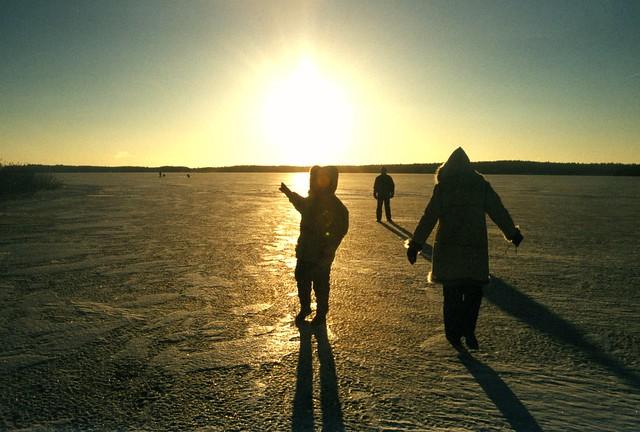 Caminando sobre el mar congelado