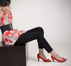 arm(0.0), tights(0.0), footwear(1.0), clothing(1.0), trousers(1.0), high-heeled footwear(1.0), leggings(1.0), limb(1.0), leg(1.0), photo shoot(1.0), human body(1.0), thigh(1.0),