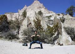 getting some chi at Kasha-Katuwe Tent Rocks National Monument