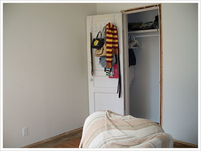 Before pic of office room closet