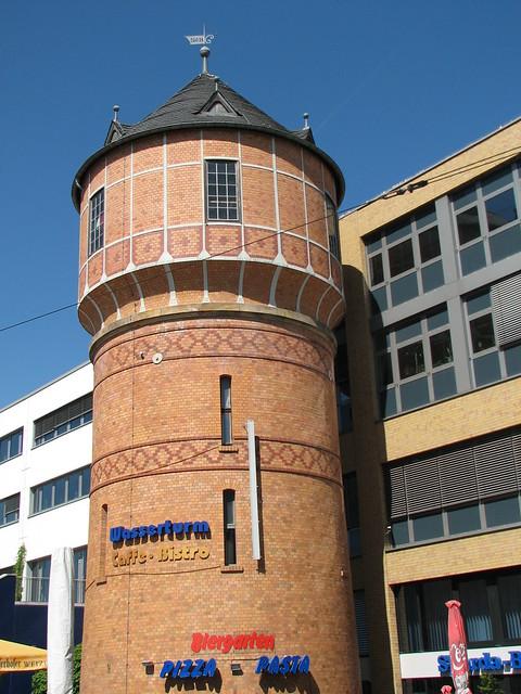 Wasserturm beim Potsdamer Hauptbahnhof