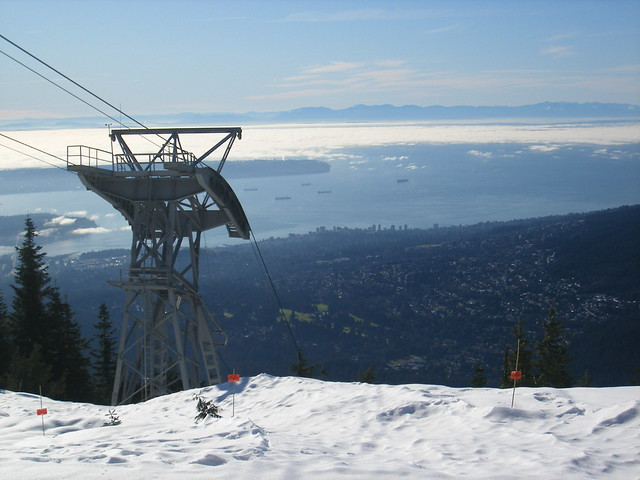 Looking down on Vancouver from Grouse Mountain by CC user bluelemur on Flickr