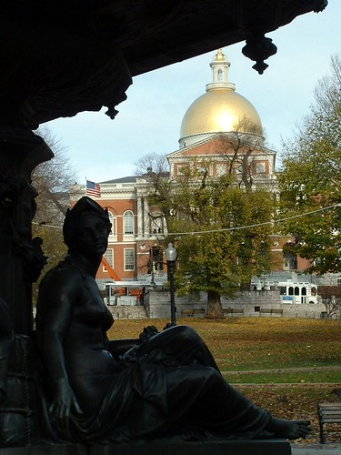 Brewer Fountain and the State House