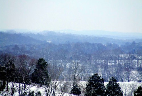 trees winter snow mountains home landscape tennessee hills snowday