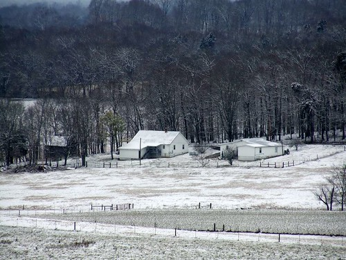 trees winter snow mountains home landscape farm tennessee hills snowday