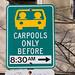 Carpool parking sign by Richard Drdul