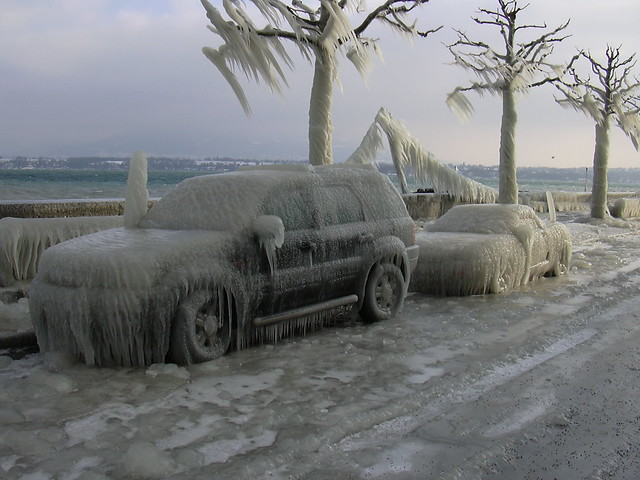 Frozen cars #1 - I'll use my foot a few days...