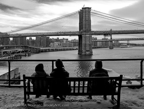 Watching the Brooklyn Manhattan & WB  bridges in NYC