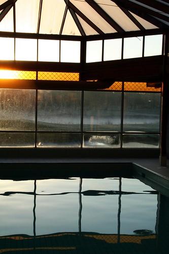 morning ireland irish sun pool swimming sunrise golf hotel glow manor adare
