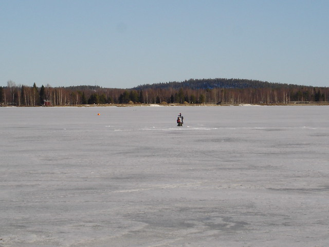 Making a hole in the ice