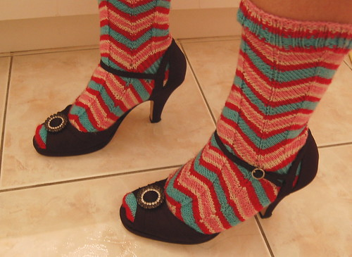 "Vintage Jaywalker socks (and my ""fancy"" shoes)"