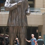 Scott and the Nelson Mandela statue