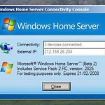 Fake Windows Home Server screen