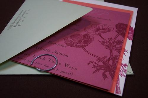 Amy's wedding invitations