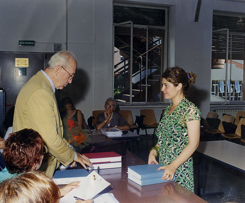 Rome - Prof. Andrea Carandini & Dott.ssa Elisa Gusberti, and the presentation of her Tesi di Laura (15-07-2001). Photo courtesy of Dott.ssa Gusberti (20-03-2007).