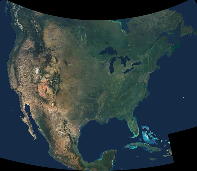 Released to Public: North America from Space (NASA ...