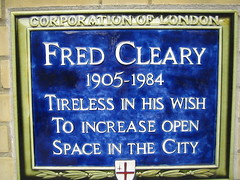 Photo of Fred Cleary blue plaque