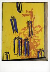 croxcard 50 carole vanderlinden (2006) IL PLEUT DEHORS acryl op doek 21x28cm