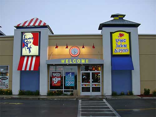 KFC - Long John Silver's Co-branded restaurant: Exterior