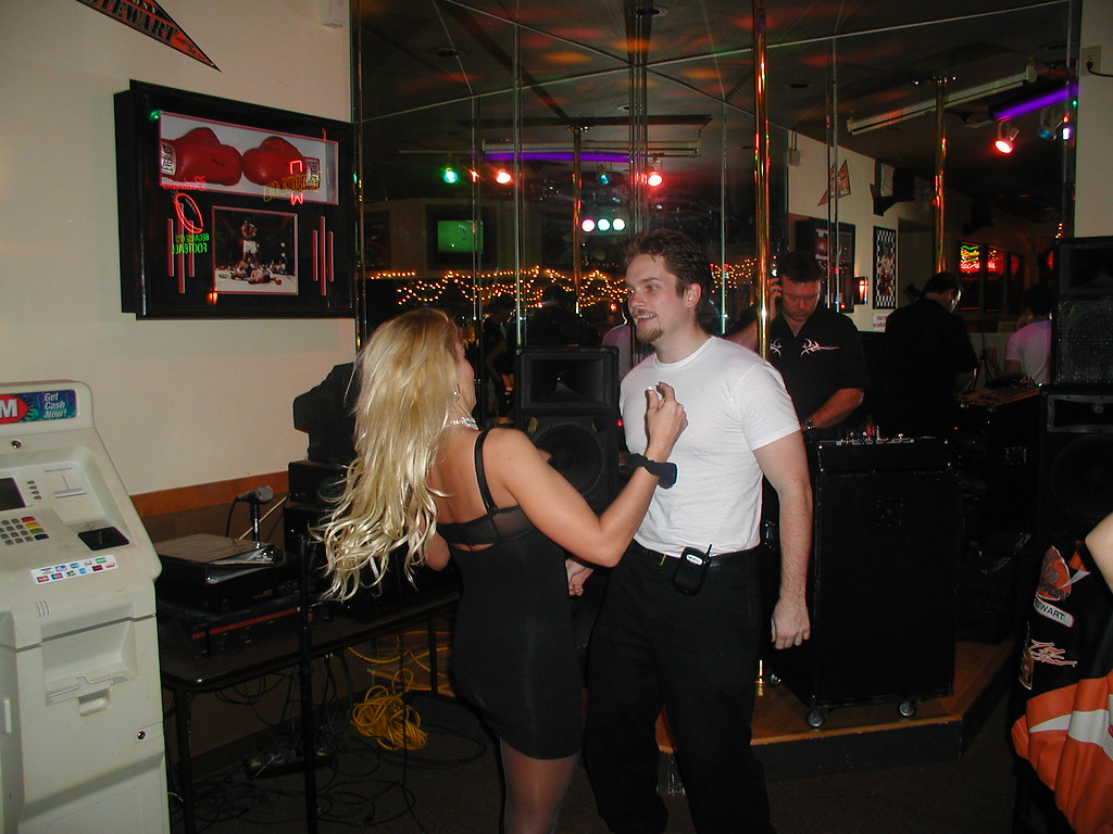 Charlie and I dancing.