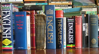 Row of books - English Dictionaries