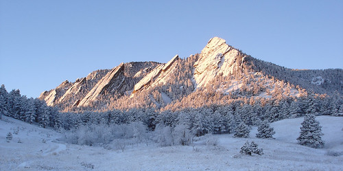 winter snow mountains sunrise colorado boulder flatirons alpenglow bouldermountainparks