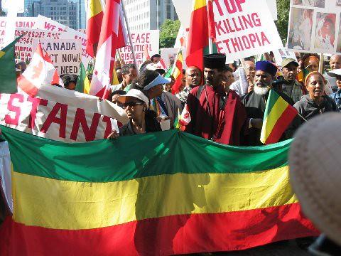 Toronto Ethiopian Protest Rally