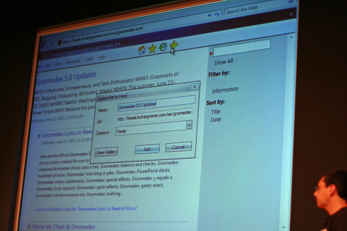 Adding a feed in Internet Explorer 7